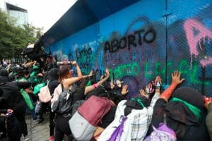 Protests turned violent on the 'Global Day of Action for Safe and Legal Abortion' in Mexico City.