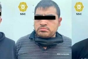 The suspected thieves arrested by Mexico City authorities