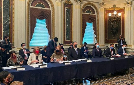 The Mexican delegation Thursday in Washington.