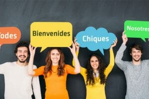 """Replacing the gendered """"o"""" or """"a"""" in Spanish words with an """"e"""" is one proposed (and often mocked) way of making language more inclusive."""