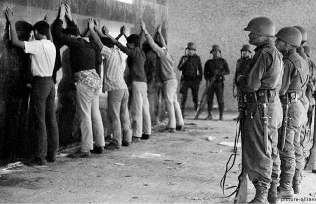 Soldiers in Tlatelolco Massacre October 2, 1968