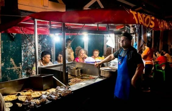 taco stand in Mexico