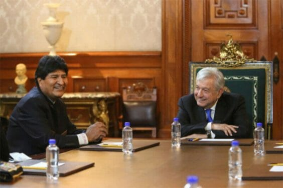 After the Thursday seminar, Morales met with the president in the National Palace.