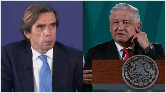 Former Spanish prime minister José María Aznar mocked President López Obrador at the national convention of Spain's People's Party.