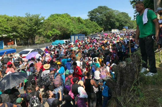 Migrants on the highway north of Tapachula, Chiapas