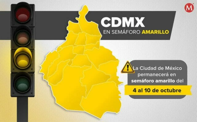 Mexico City will remain medium-risk yellow on the stoplight risk map for at least two weeks.