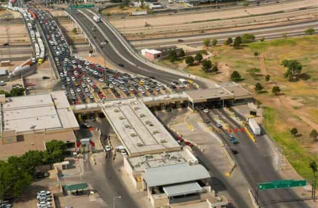 Many 'chocolate cars' are illegally brought into the country at border crossings like this on in Ciudad Juárez.