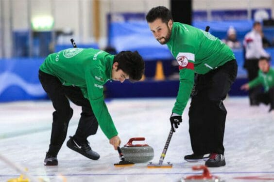 Mexican curlers compete at a competition in Finland in 2020.
