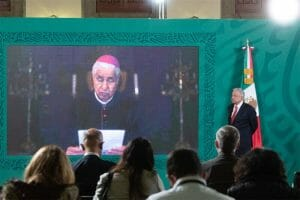 A messenger from Pope Francis relayed an apology at Monday's presidential press conference.