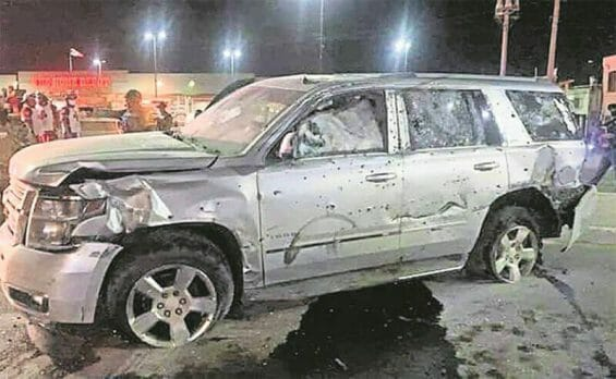 The vehicle in which cartel boss El Tigre was traveling