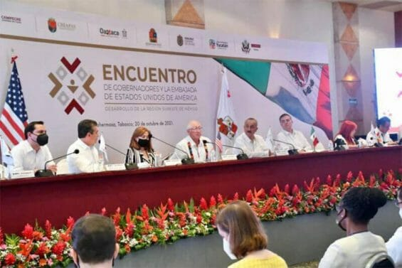US and Mexican officials met in Tabasco on Wednesday to discuss economic investment in southern states.