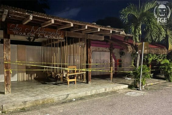 Two women dining at La Malquerida restaurant in Tulum were killed on Wednesday.